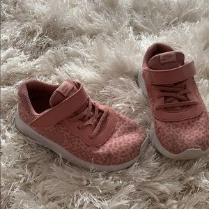 Nike Velcro neutral pink animal print